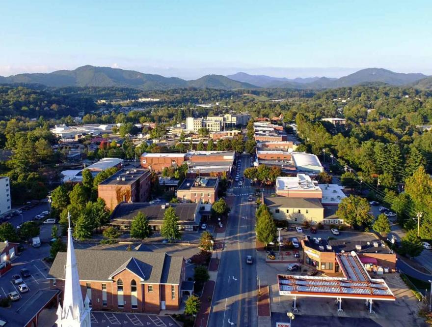 Waynesville city view